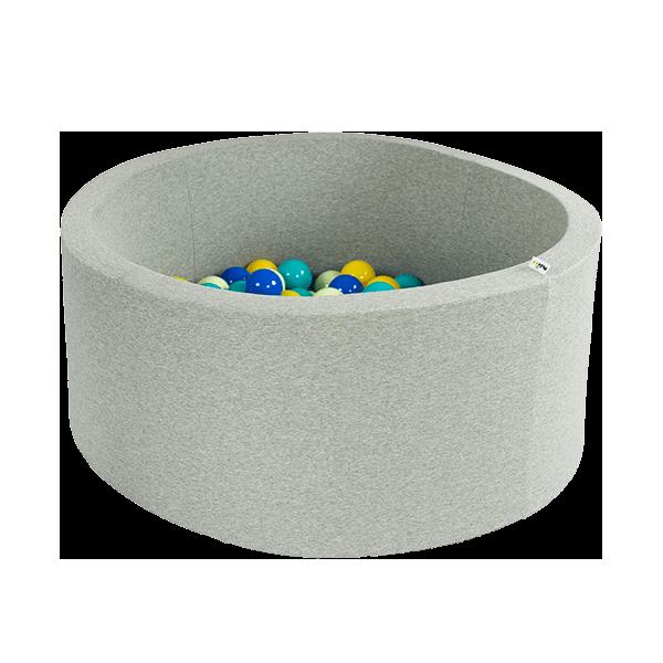 ronde ballenbak licht grijs