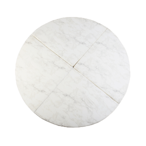 ronde speelmat marmer wit