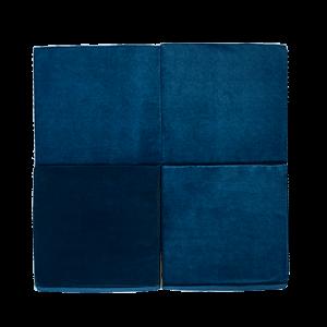 Vierkant speelmat donker blauw
